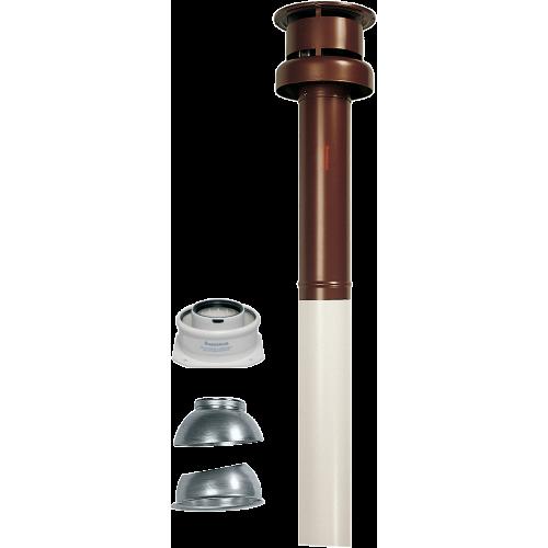 Комплект вертикального коаксиального дымохода 60/100 мм (конденс, красный) 3.016833